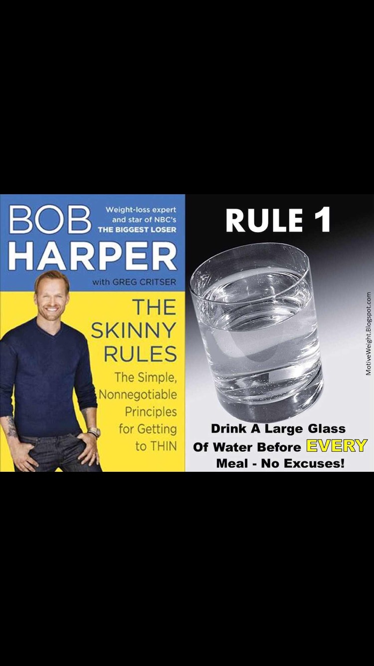 It's proven! Drink water before and after your meals. The glass before will fill you up a bit so you don't over eat and the glass after will help you digest it better.