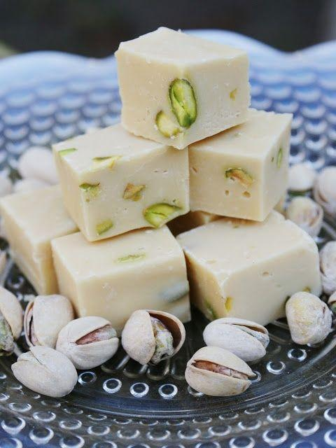 Mix well 1 (14oz) can sweetened condensed milk ½ cup Baileys Irish Cream 36oz white chocolate chips melted, ½ cup raw pistachios, chopped.Line a 9x9 baking dish with nonstick foil and pour the mixture.freeze