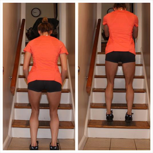. Don't Just Walk Up The Stairs Run, jump, or squat