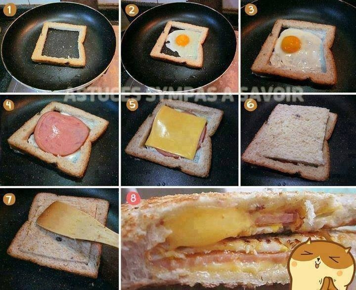 Make it inside a piece of bread!!  Please double tap to see full image!! 😄