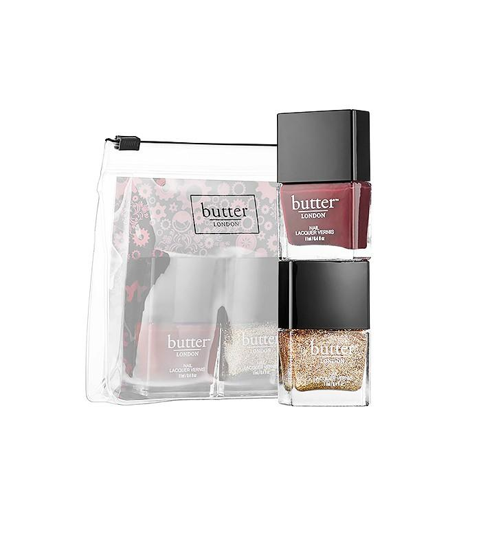 The Mini Nail Kit  Butter London British Spice ($15) These modern, chic colors dry quickly and even promote nail growth. This nail gift set is a no-brainer for any girl on your list