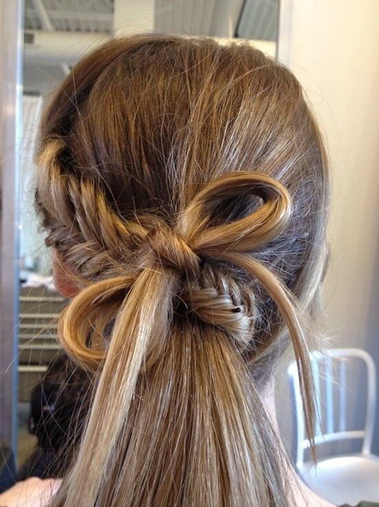 Two braided ends tied together. 👌