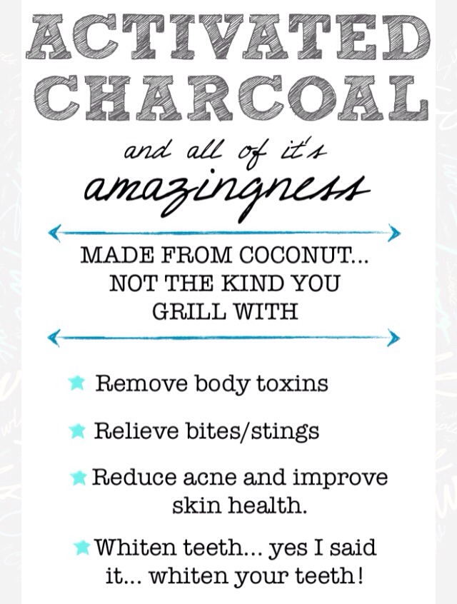 Check out my other tips for more information on... Activated Charcoal Mask/Scrub Detox