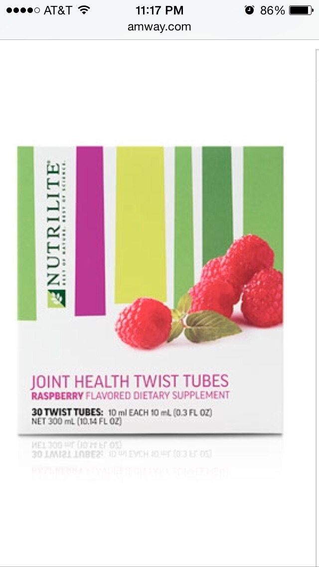 Glucosamine is the only vitamin scientifically shown to help improve joint health! These raspberry twist let you get it a tasty, easy way! What could be better?! Order at www.amway.com/JSchuler. First orders get 40% off!