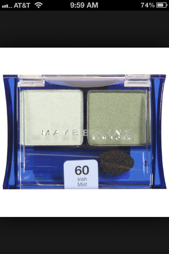 STEP 2.) Take a light green eyeshadow like this and mix Your foundation and eyeshadow together in a little container!!