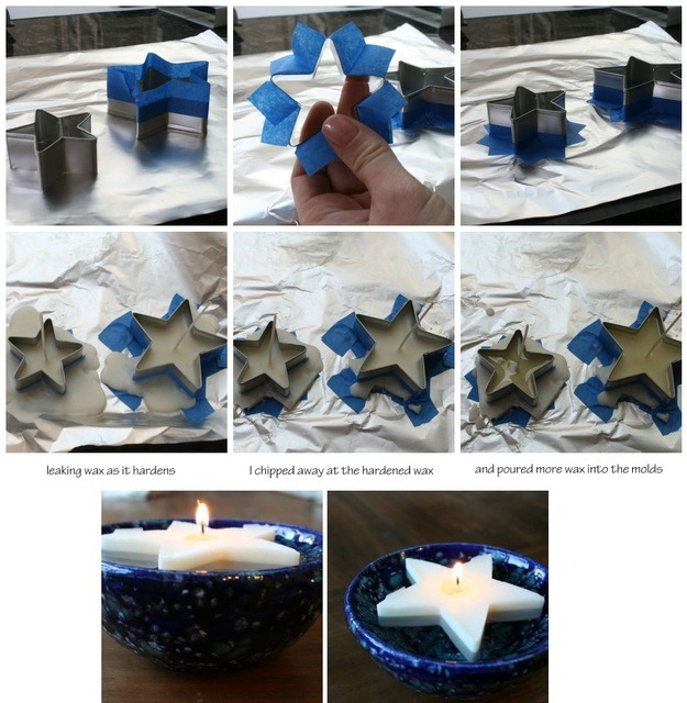Make these cool floating star candles.