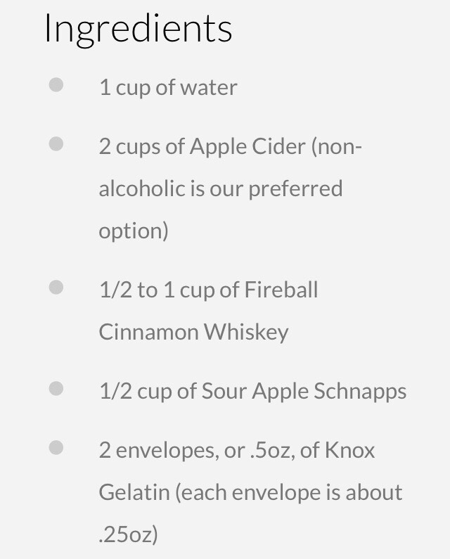 Apple Cider Jello Shots With Fireball Whiskey By Lindsay