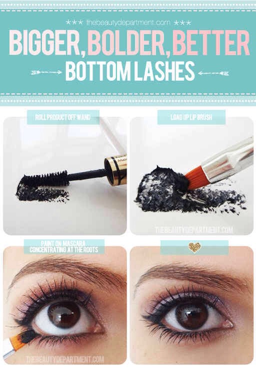 Precisely darken your lower lashes for serious drama.
