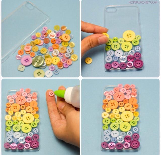 10. Button phone case