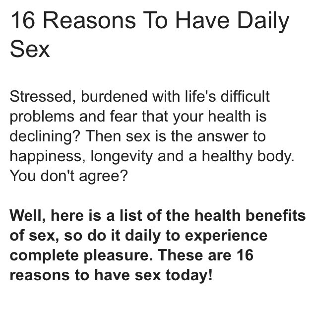 Is having sex everyday healthy foto 19