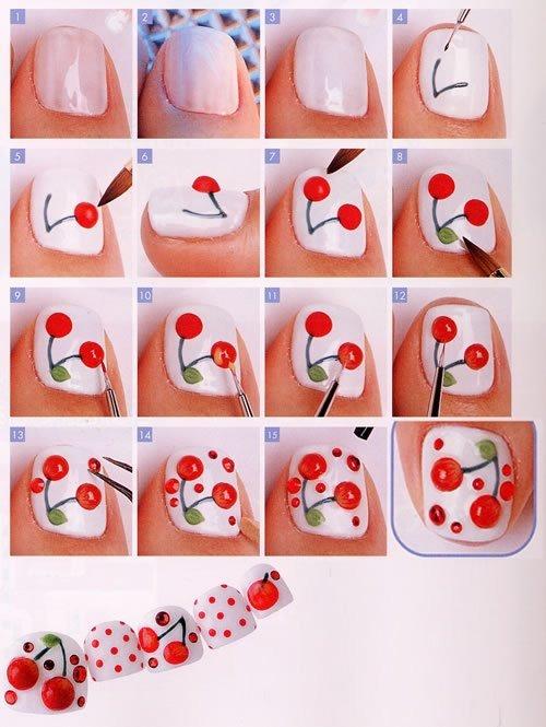 3. Cherry Nails