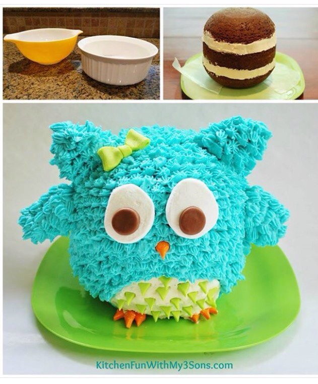 Fabulous Easy Owl Birthday Cake By Michele Cooper Musely Funny Birthday Cards Online Drosicarndamsfinfo