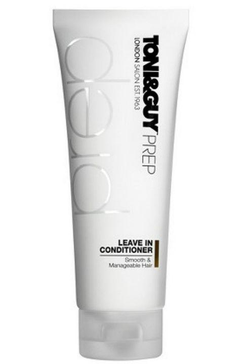 9. Toni & Guy Prep Leave In Conditioner You look amazing when you walk out the door in the morning, but by your last class, your hair is poofier than ever. Sound familiar? Try this lightweight leave-in conditioner to tame the frizz.