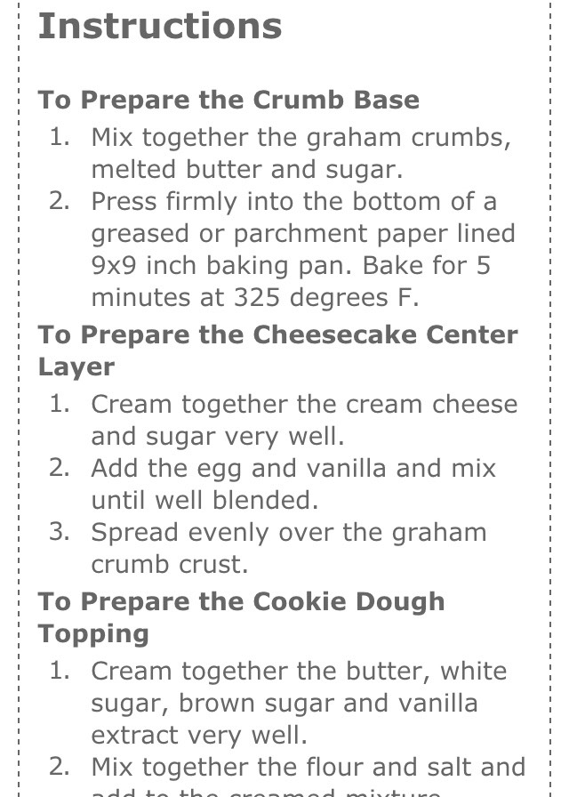 Number 2 at the bottom got cut off it says add to creamed mixture !