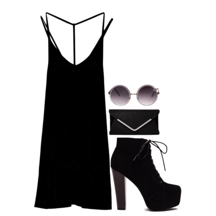 Dress: $31 @ backcountry.com Shoes: $29 @ gojane.com Purse: $50 @ c21stores.com Glasses: $38 @ princesspolly.com
