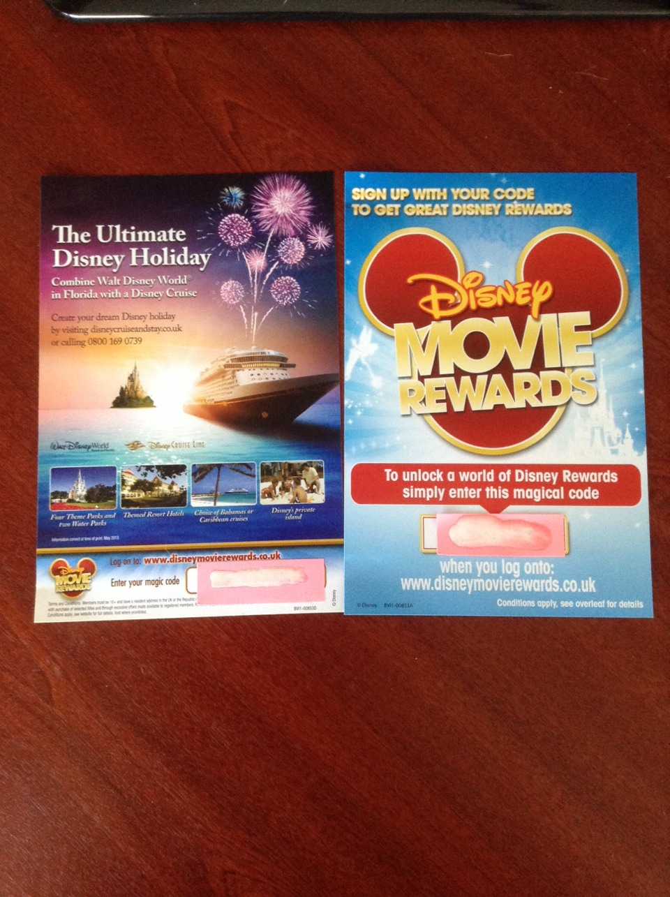 If you have any DVDs with these inside sign up to disney rewards it's free and easy to do!!!
