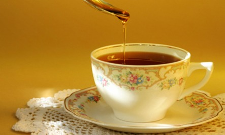 FOOD 10. Energy Booster: Enjoy a cup of tea with a desired amount of honey  11. Substitute Baking: For every cup of sugar a recipe calls for, replace it with 3/4 cup of honey. Best results add 1/4 tsp baking soda & reduce another liquid in the recipe by 1/4 cup. Reduce oven temp by 25°