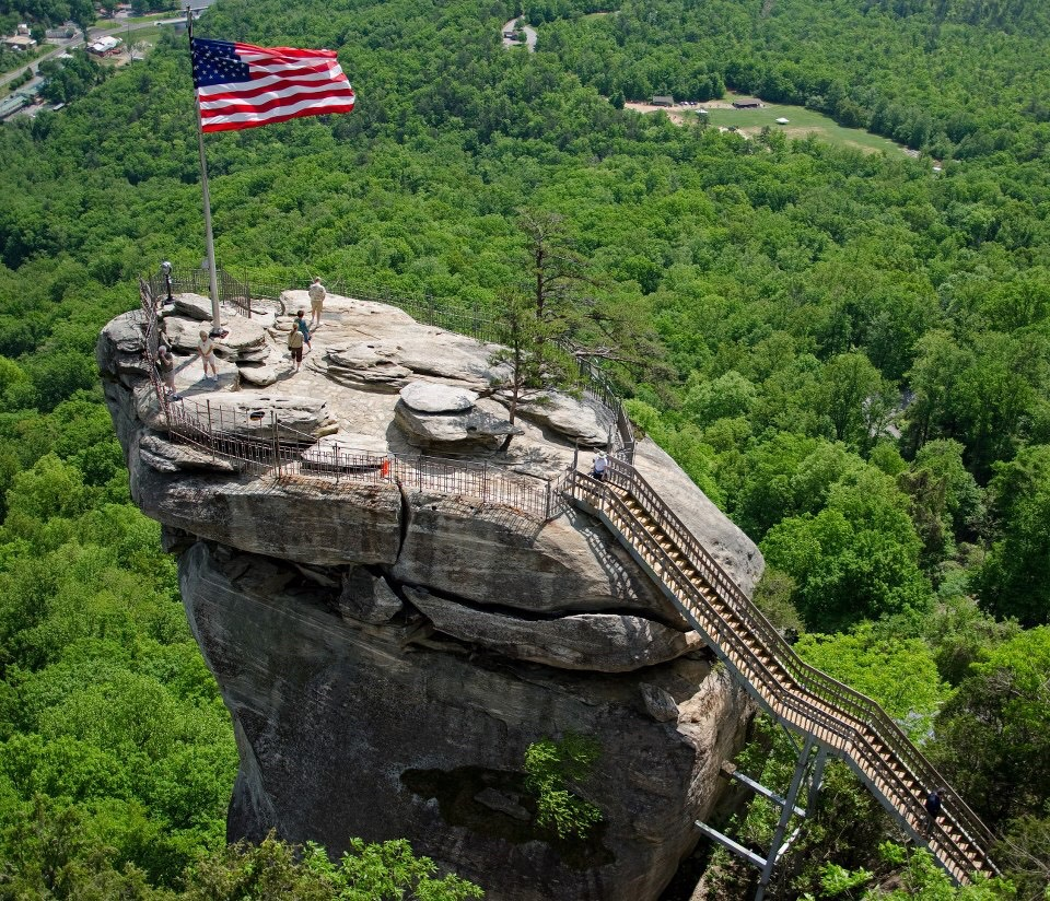 Chimney rock. Where you can hike.