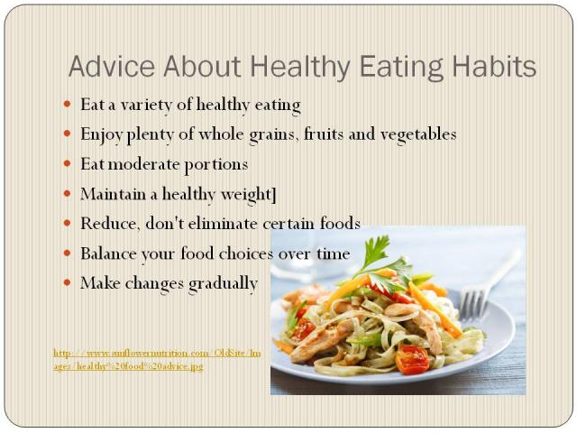 essay about healthy eating habits