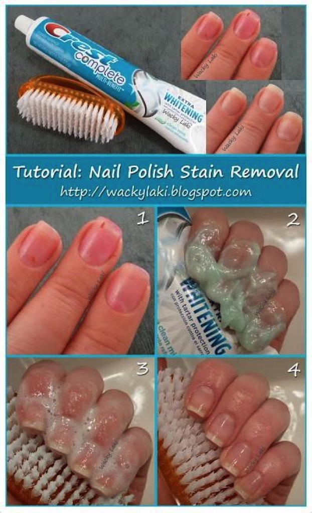 You can clean your nails with whitening toothpaste