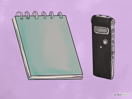 1. Keep a notepad or voice recorder with you throughout the day. Often something you see or hear later in the day will trigger a memory of a dream from the night before. Note these recollections without delay, and think about them to see if you can remember how they fit into the rest of the dream.