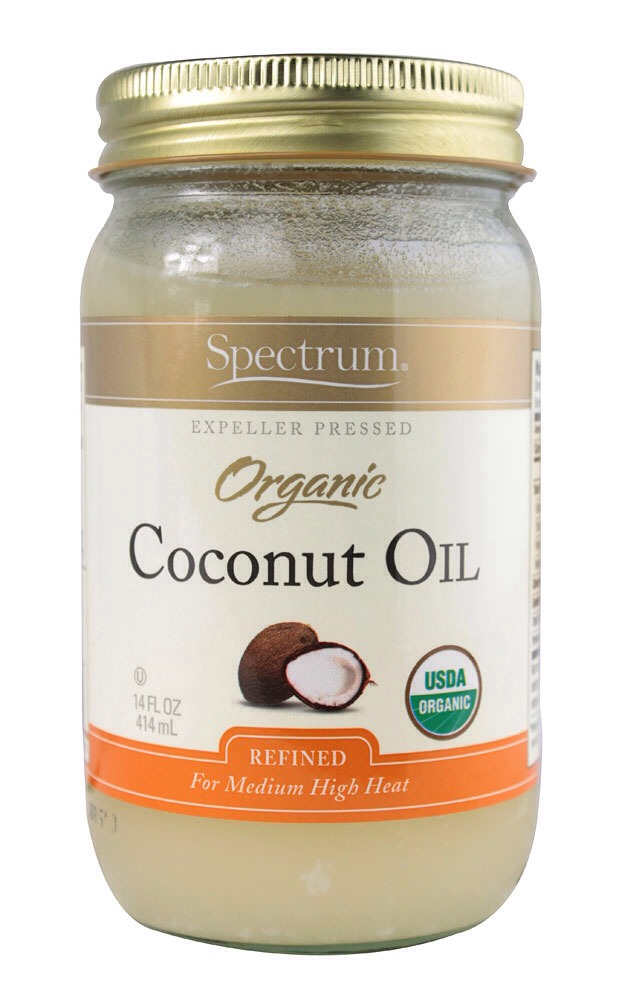 Heat a little bit of coconut oil.  (The amount depends on how long your hair is but you don't need a lot.)