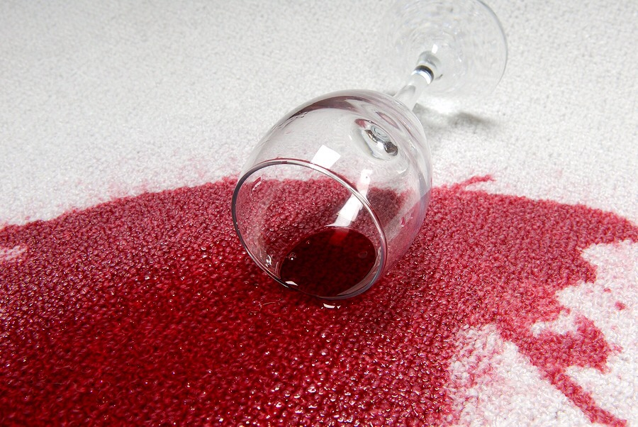 When you spill something that will stain your carpet........... Pour some salt on it.