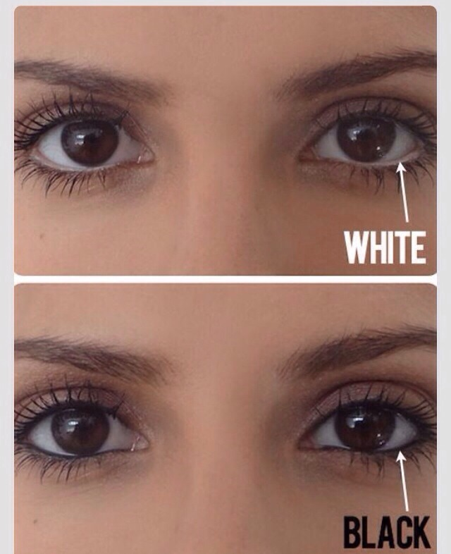 Mistake: Using White Liner to Make Eyes Look Bigger A few years back, white liner was big in the beauty community because it supposedly made eyes look larger by extending the whites of your eyes. Johnson warns that the starkness of the white now looks dated and unnatural.