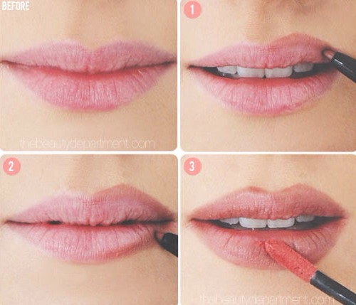 Use lip liner & fill around the outside of your lips with it the go over your actual lip with lip gloss 👄