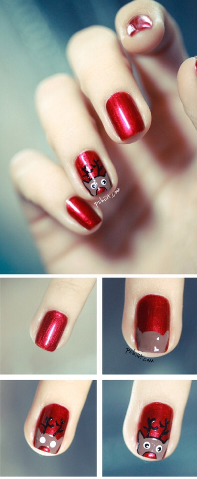 Reindeer Nail Design
