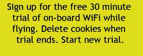 Start over your free wifi by deleting your cookies. Simple and easy.