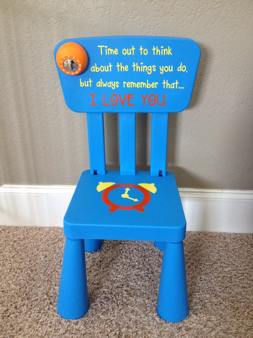 I love my daughters time out chair paint a little chair then attach a & DIY Time Out Chair! by ?Talya? C? - Musely
