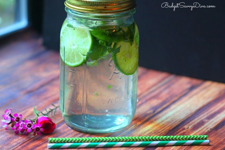 Each of the ingredients in this drinks is meant to help 1) Green Tea –Is great for weight loss– it helpsburn fateasier and better 2) Mint–It add sweetness to the drink without having to add that sugar–and it helps with digestion 3) Lime–Lime is great for relievingachesand pains–especially headac