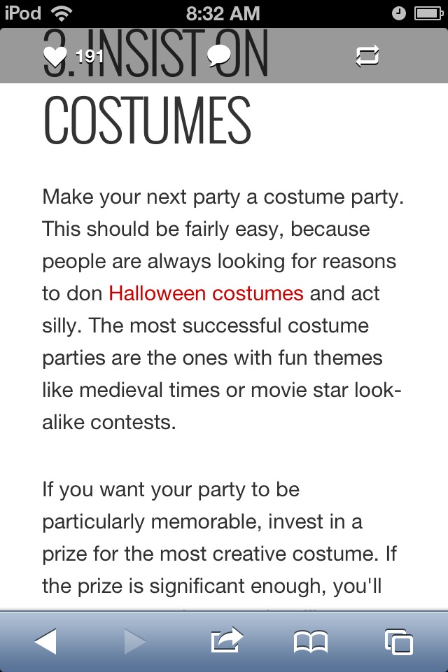 3. Insist On Costumes