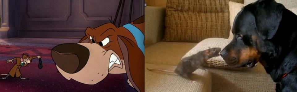 """""""The Great Mouse Detective"""" - Basil and Toby"""