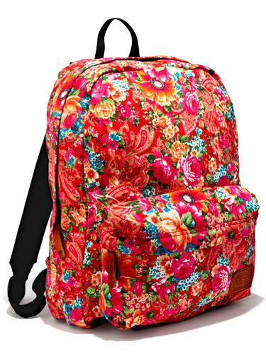 Floral Backpack A bold print is too cool for school—and perf for toting your whole life around!  Vans backpack