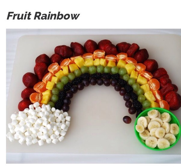 Whats more fun than a rainbow? A rainbow made out of fruit.