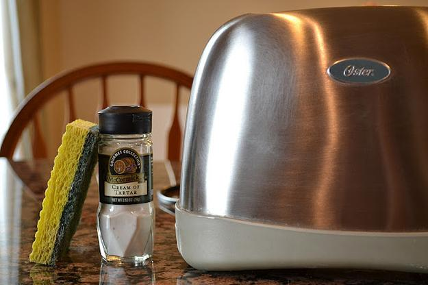 6. When your toaster gets all sticky and gunk, just use cream of tartar.