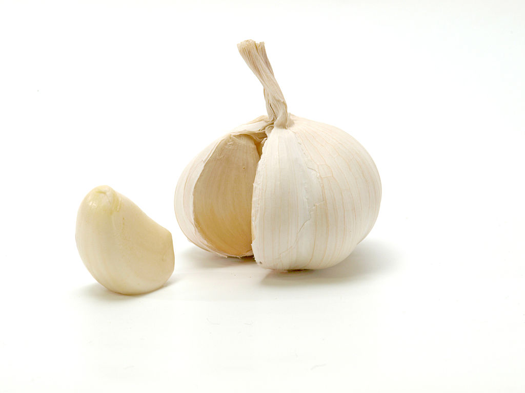 get a piece of garlic