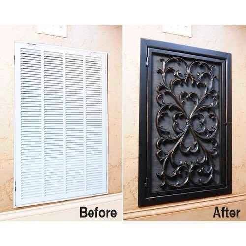 16. Cover up an unsightly air vent with a rubber door mat.