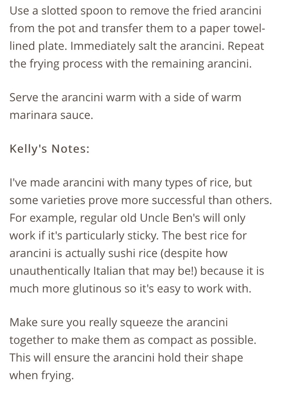 I find these are great if you use the type of rice grain risotto is made with.
