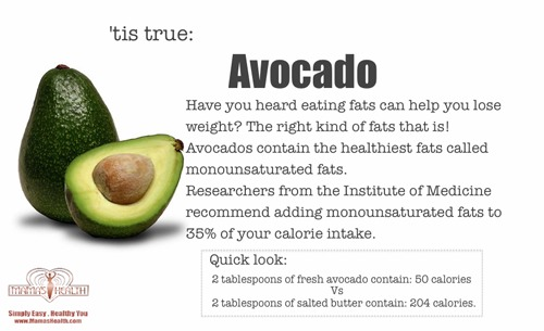 Ok so here's the scoop, avocados are an amazing super food! I incorporate at lease 1/2 to 1 in my daily diet, I sometimes blend it into my protein shake, you can't even taste it in the shake!!!!