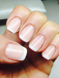 Apply some alcohol/acetone to nais to remove the cream that prevents nail varnish from sticking. Finally choose a colour or you can use a white to paint white tip which always looks gorgeous!!