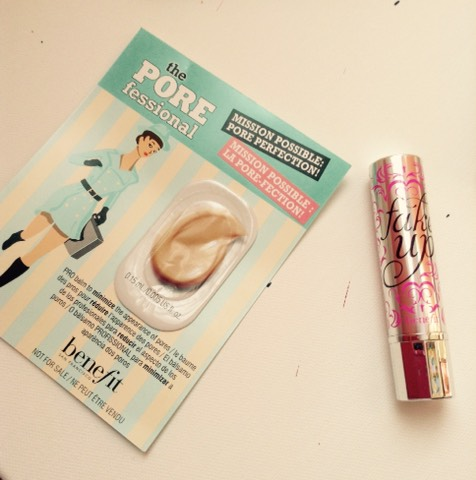 I also got Benefits Fake up and POREfessional sample.