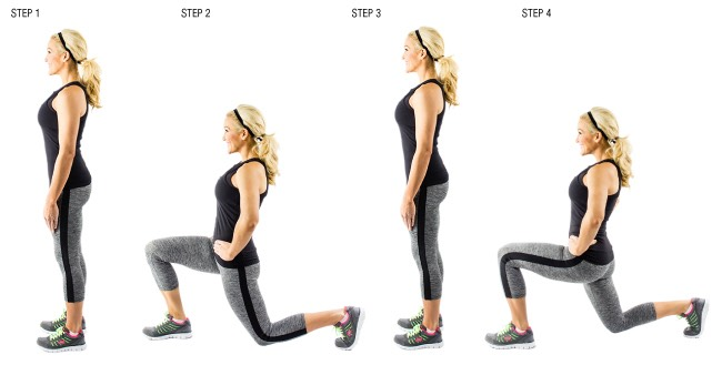 35 walking lunges (each leg)