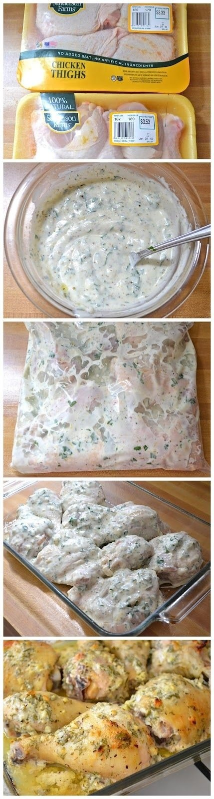 What you need: 3 1/2 to 4 lbs. of chicken pieces 2 tbsp. dried oregano 4 bunch of fresh parsley 4 cloves of garlic, minced 1 medium lemon (zest and juice from half) 2 tsp. salt Sprinkle of pepper 2 tbsp. olive oil 1 c. plain yogurt