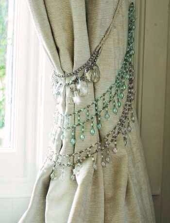 It's like a chandelier for your curtains! :)