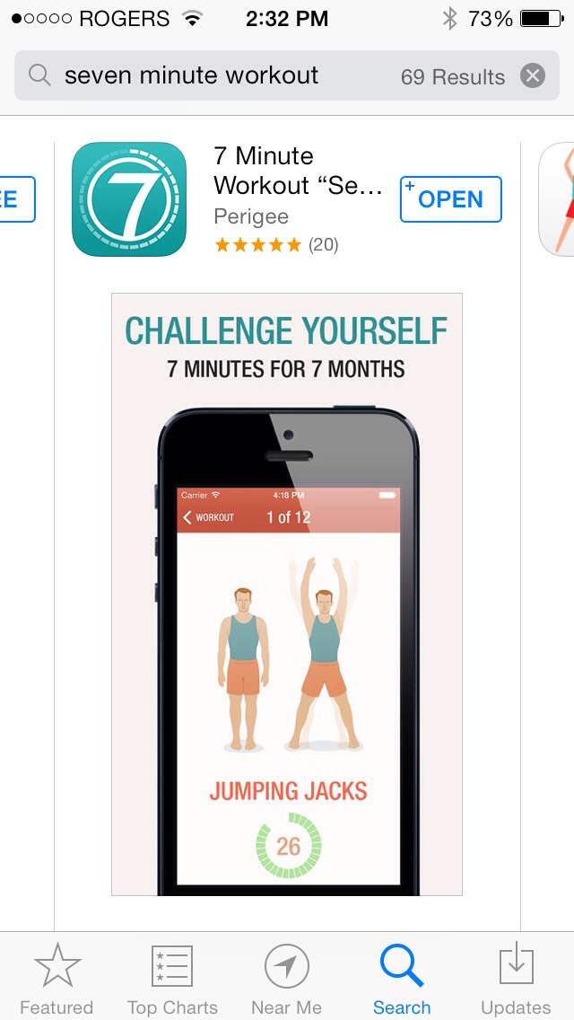 Download 7 minute workout for a great workout that only takes 7 minute