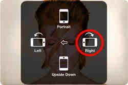 Make sure your smartphone is facing right since the light will flip the image.