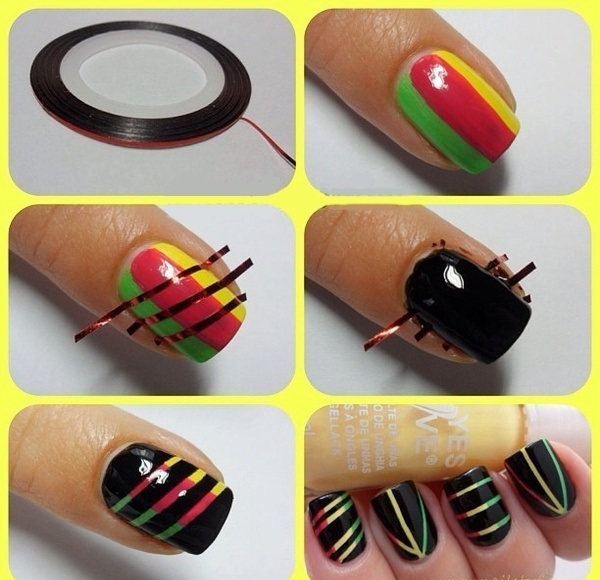 Rasta Nail Design. Musely - Rasta Nails Design – Envy Nail Spa